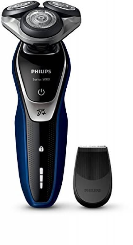 Philips Series 5000 AquaTouch Rasoio Elettrico AquaTec Wet & Dry, Lame MultiPrecision, Funzione Turbo+, Testina Flex 5 Direzioni, Rifinitore di Precisione