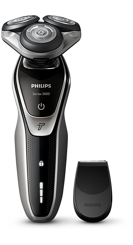 Philips S5320/06 Serie 5000 Rasoio Elettrico, Lame Multiprecision, Testina Flex 5 Direzioni, Modalità Turbo, Rifinitore Precisione