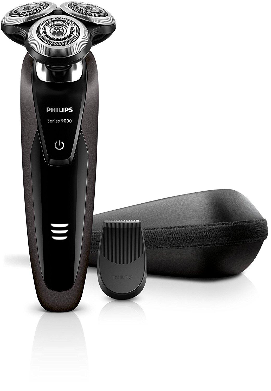Philips S9031/13 Shaver Series 9000 Rasoio Elettrico Wet & Dry, Tecnologia Contour Detect, Nero